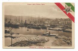 TRIESTE - VEDUTA DEL PORTO  - POSTA MILITARE TIMBRO  - VIAGGIATA FP - Trieste (Triest)