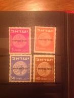 Israel 1951 Official Mint SG O54-7 Mi 1-4 - Neufs (sans Tabs)