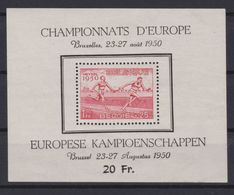 2043 Belgie Europese Atletiekkampioenschappen Bl 29 . - Blocks & Sheetlets 1924-1960
