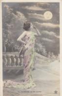 Aubade A La Lune Dawn Serenade To The Moon, Fashion, C1900s Vintage Postcard - Mode