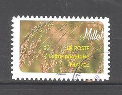 France Autoadhésif Oblitéré (Une Moisson De Céréales : Millet) (cachet Rond) - France