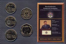 Jordan Coins Set UNC / BU < GOLD Plated > RARE (5 Coins) - Jordanie