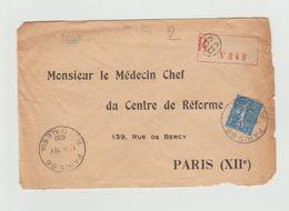 PNEUMATIQUE  ????  Recommandé PARIS 66 - 1930 -   RUE D'ALESIA + YT 205 Seul Sur Lettre - Altri
