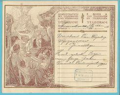 TELEGRAMME(Sterne Stevens) Met Blauwe Telegraafstempel GEERAARDSBERGEN / GRAMMONT - Stamped Stationery