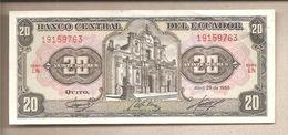 Ecuador - Banconota Circolata QFdS Da 20 Sucres P-121 Aa.3 - 1986 - Ecuador