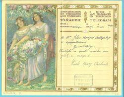 TELEGRAMME(Montald) Met Blauwe Telegraafstempel GEERAARDSBERGEN / GRAMMONT - Stamped Stationery