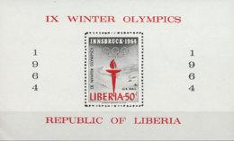 Liberia, 1963, Olympic Winter Games Innsbruck, Sports, MNH, Michel Block 28A - Liberia