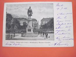 CPA ITALIE  TORINO Plazza Carlo Felice Monumento A Massimo D'Azeglio 1904 T.B.E. - Italia