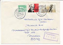Multiple Stamps Commercial Cover - 9 July 1990 Pasewalk 2 - Briefe U. Dokumente
