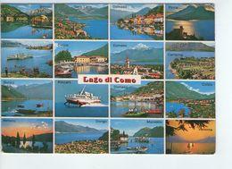 U1930 CARTOLINA CON VEDUTINE: SALUTI DAL ALTO LAGO DI COMO + ALISCAFO, NAVE SHIP BATEAU - Italia