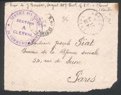 Service Des Voies De Communication - Section A Clerval (Doubs) - Marcophilie (Lettres)