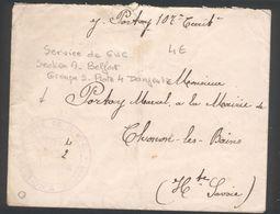 Service De GVC SectionA Belfort - Groupe 5 Poste 4 Danjoutin - Marcophilie (Lettres)