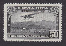 Costa Rica, Scott #C21, Mint Hinged, Mail Plane, Issued 1934 - Costa Rica