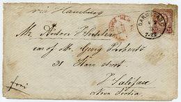 Germany 1875 Cover, Darmstadt To Halifax, Nova Scotia      6074 - Briefe U. Dokumente