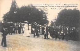 75e Anniversaire De L'Indépendance Nationale - Fêtes Patriotiques De Laeken 16-07-1905 - Arrivée Du Roi - Feesten En Evenementen