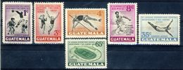 """1950 Guatemala MNH OG Complete Set Of 6 Pristine Stamps """"Centro American Olympic Games"""" Extremely Low Mintage!!! - Guatemala"""