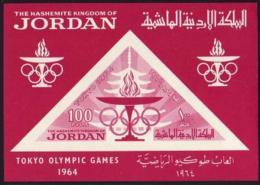 Jordan, 1964, Olympic Summer Games Tokyo, Sports, MNH Imperforated, Michel Block 16 - Jordanie