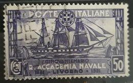 ITALIA 1931 The 50th Anniversary Of The Royal Navy Academy. USADO - USED - 1900-44 Victor Emmanuel III