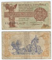 España - Spain 1 Peseta 1937 Pick 94 Ref 1479 - [ 5] Department Of Finance Issues