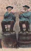 Bretagne Customs, Men Play Wind Instruments , C1910s Vintage Postcard - Bretagne