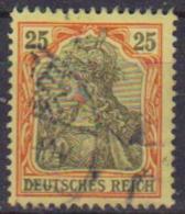 GERMANIA REICH IMPERO 1902 FIGURA ALLEGORICA  DELLA GERMANIA LEGGENDA DEUTSCHES UNIF. 71 USATO VF - Germania