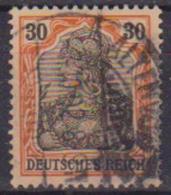 GERMANIA REICH IMPERO 1902 FIGURA ALLEGORICA  DELLA GERMANIA LEGGENDA DEUTSCHES UNIF. 72 USATO VF - Germania