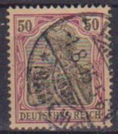 GERMANIA REICH IMPERO 1902 FIGURA ALLEGORICA  DELLA GERMANIA LEGGENDA DEUTSCHES UNIF. 74 USATO VF - Germania
