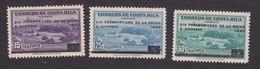 Costa Rica, Scott #C47-C48, C50, Mint Hinged, Duran Sanatorium, Issued 1940 - Costa Rica