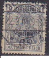 GERMANIA REICH IMPERO 1905 FIGURA ALLEGORICA DELLA GERMANIA UNIF. 81 USATO VF - Germania