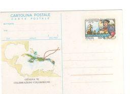 Italy 1992 Genova 92 Unused Postal Card - 6. 1946-.. Republic