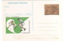 Italy 1999 VIII European Hockey Chamionship Unused Postal Card - 6. 1946-.. Republic