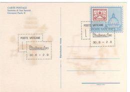 Vatican City 1980 Riccione 80 Stamp Expo Souvenir Postcard - Vatican