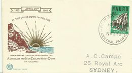Nauru  SG 65 1965 Gallipoli, Wesley First Day Cover - Nauru