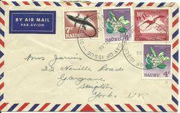 Nauru  SG 66-79 Definitive 4 Stamps On Cover Sent To UK - Nauru
