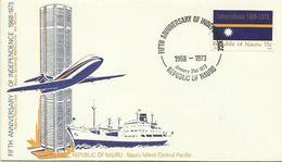 Nauru  SG 98 1973 5th Anniversary Of Independence,First Day Cover - Nauru