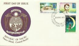 Nauru  SG 113-115 1973 Co-op Society,First Day Cover - Nauru
