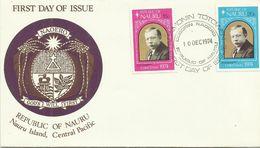 Nauru  SG 127-128 1974 Christmas,First Day Cover - Nauru