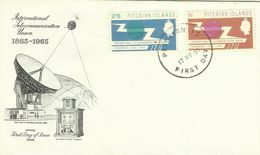 Pitcairn Islands SG 49-50 1965 ITU ,First Day Cover - Stamps