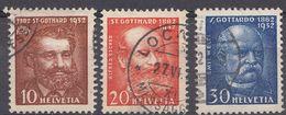 SVIZZERA - SUISSE - 1932 - Serie Completa Usata: Yvert 260/262; 3 Valori. - Svizzera