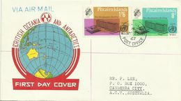Pitcairn Islands SG 59-60 1967 WHO ,First Day Cover - Stamps