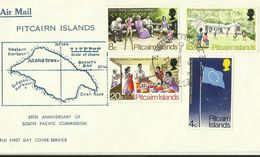 Pitcairn Islands SG 120-123 South Pacific Commission ,First Day Cover - Stamps