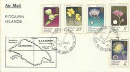 Pitcairn Islands SG 126-130 1973 Flowers ,First Day Cover - Stamps