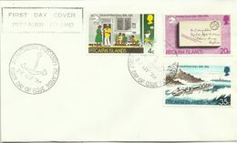 Pitcairn Islands SG 152-154 1974 UPU Centenary,First Day Cover - Stamps