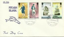 Pitcairn Islands SG 167-170 USAS Bicentennial ,First Day Cover - Timbres