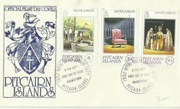 Pitcairn Islands SG 171-173 Silver Jubilee ,First Day Cover - Stamps