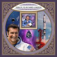 SIERRA LEONE 2017 MNH** Richard F. Gordon Space Saturn V Raumfahrt Espace S/S - IMPERFORATED - DH1804 - Space