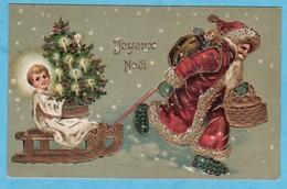 PERE NOEL Avec Gaufrage Et Or // (1 CORNURE SINON TRES TRES BON ETAT ) < 332) - Noël
