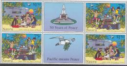 NAURU, 1995  PEACE BOTH GUTTER PAIRS MNH - Nauru