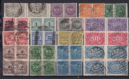 1 Steckkarte Mit Infla-Marken (Viererblöcke Gestempelt) Aus Nachlass - Non Classés