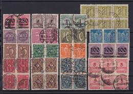 1 Steckkarte Mit Infla-Marken (Vierer- Und Sechserblöcke Gestempelt) - Non Classés